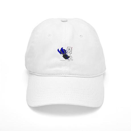 Snowmobile Cat in Color Blue Cap