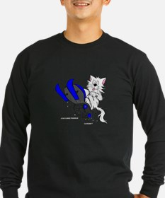 Snowmobile Cat in Color Blue T