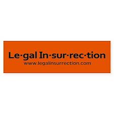 Legal Insurrection Bumper Sticker Bumper Bumper Sticker