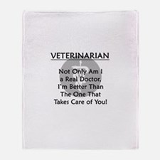 Veterinarian A Real Doctor Throw Blanket