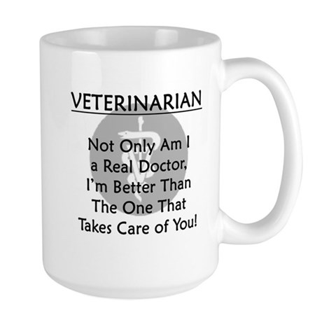 Veterinarian A Real Doctor Large Mug
