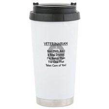 Veterinarian A Real Doctor Travel Mug