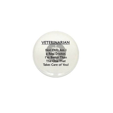 Veterinarian A Real Doctor Mini Button (100 pack)