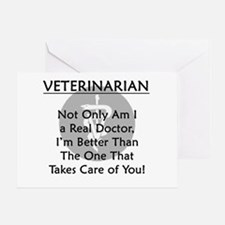 Veterinarian A Real Doctor Greeting Card