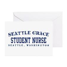 Student Nurse - Seattle Grace Greeting Cards (Pk o