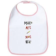 Make Art Not War Bib