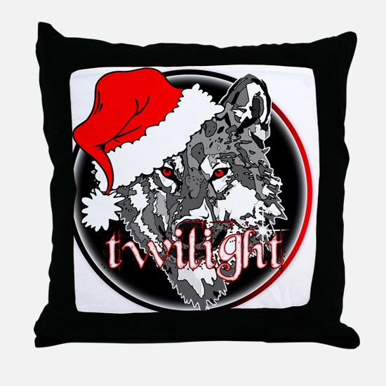 Twilight Christmas Wolf by Twibaby Throw Pillow