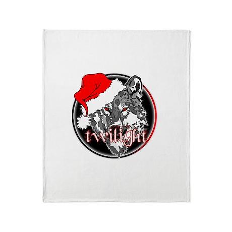 Twilight Christmas Wolf by Twibaby Throw Blanket