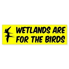Wetlands are For the Birds bumper sticker