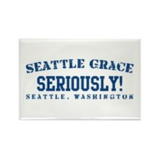 Seriously! - Seattle Grace Rectangle Magnet