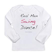 Real Men Swing Dance Long Sleeve Infant T-Shirt