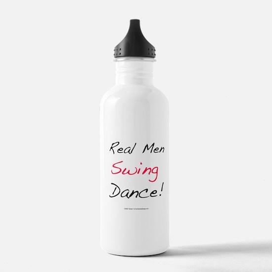 Real Men Swing Dance Water Bottle