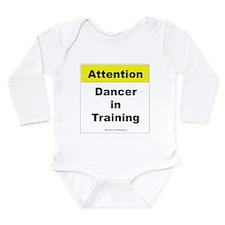 Dancer In Training Long Sleeve Infant Bodysuit
