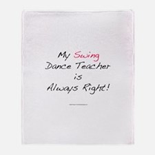 My Swing Dance Teacher Throw Blanket