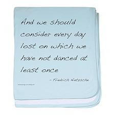 Nietzsche on Dance baby blanket