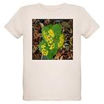 Yellow Flowers On Green Leave Organic Kids T-Shirt