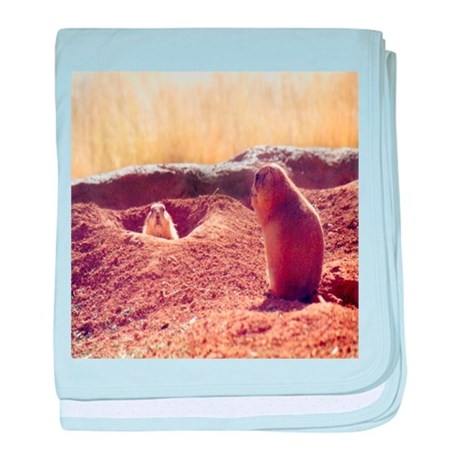 Meeting Prairie Dogs baby blanket