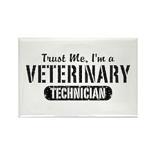 Trust Me I'm a Veterinary Technician Rectangle Mag