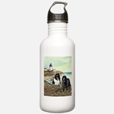 two newfs and a boat Water Bottle