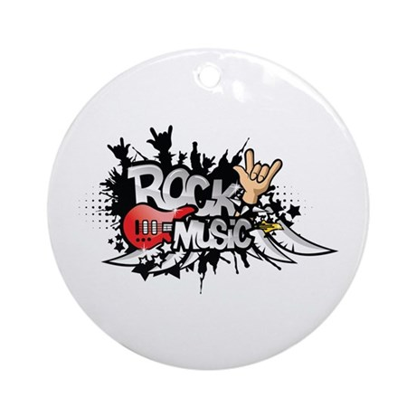 Rock music Ornament (Round)