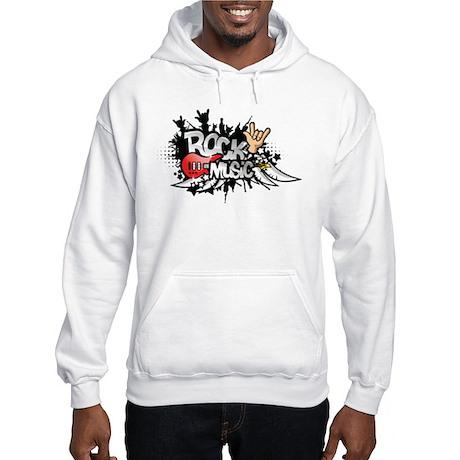 Rock music Hooded Sweatshirt