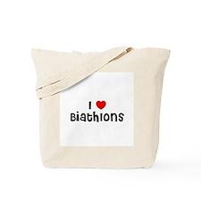 I * Biathlons Tote Bag