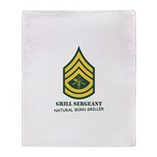 Grill Sgt. Throw Blanket