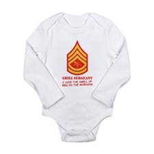 Grill Sgt. Long Sleeve Infant Bodysuit