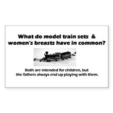 Model Trains & Breasts? Decal