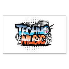 Techno music Decal