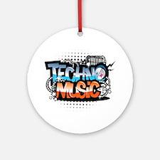 Techno music Ornament (Round)