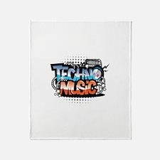 Techno music Throw Blanket