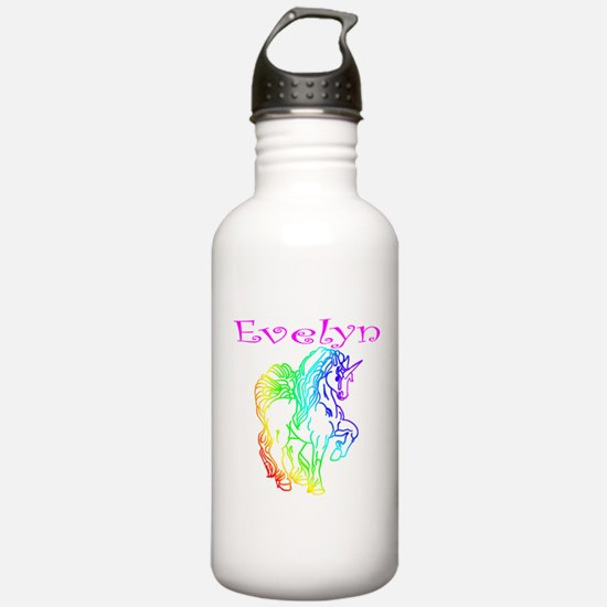 Evelyn (rainbow unicorn) Water Bottle