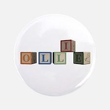 "Ollie Alphabet Block 3.5"" Button (100 pack)"