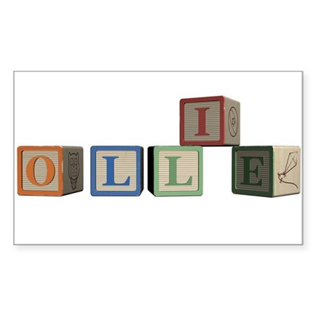 Ollie Alphabet Block Sticker (Rectangle)