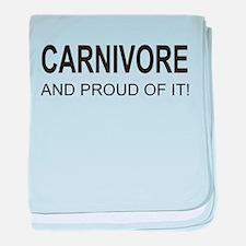 Proud Carnivore baby blanket