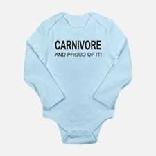 Proud Carnivore Long Sleeve Infant Bodysuit