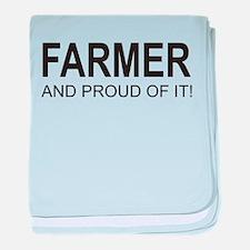 The Proud Farmer baby blanket