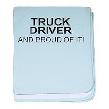 Proud Truck Driver baby blanket