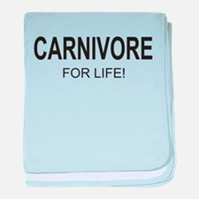 Carnivore For Life baby blanket