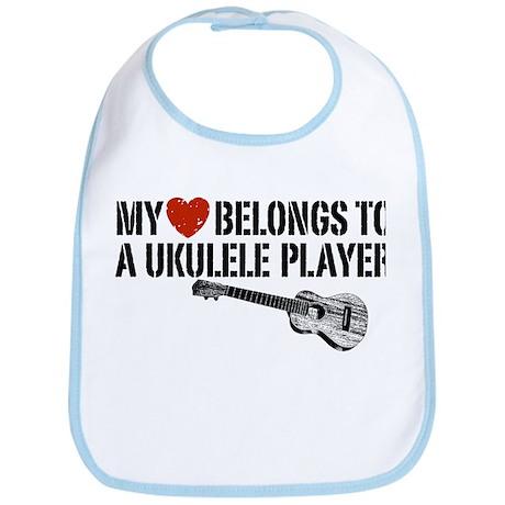 My Heart Ukulele Player Bib