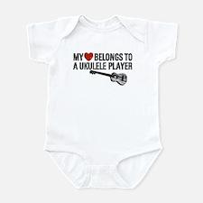 My Heart Ukulele Player Infant Bodysuit