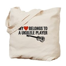 My Heart Ukulele Player Tote Bag
