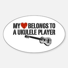 My Heart Ukulele Player Decal