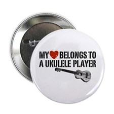 "My Heart Ukulele Player 2.25"" Button"
