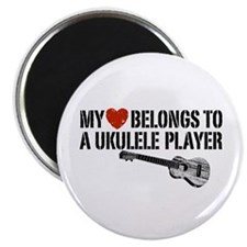My Heart Ukulele Player Magnet