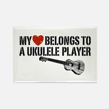 My Heart Ukulele Player Rectangle Magnet