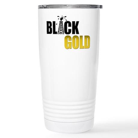 Black Gold Oil Stainless Steel Travel Mug