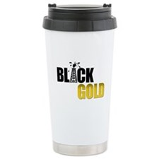 Black Gold Oil Travel Coffee Mug