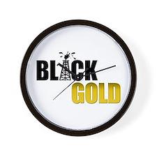 Black Gold Oil Wall Clock